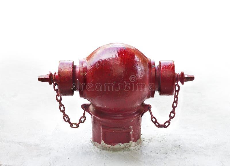 Hydrant auf weißem Hintergrund stockbild