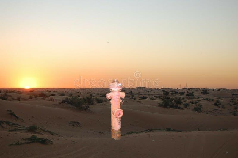 Hydrant in der Wüste stockbild