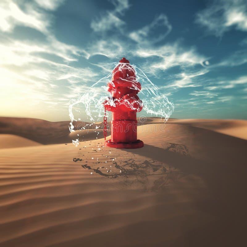 Hydrant in der Wüste stockfotografie