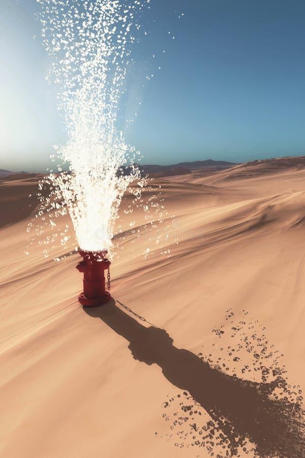 Hydrant in der Wüste lizenzfreies stockfoto