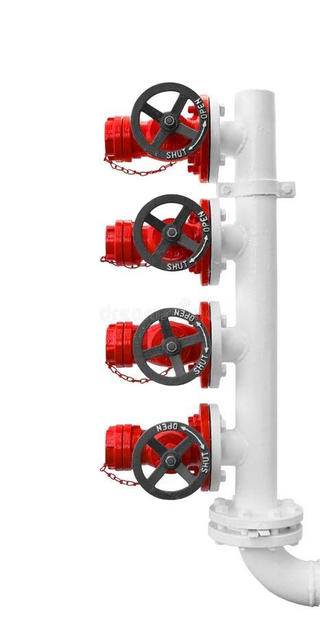 Hydrant des roten Feuers stockfotografie