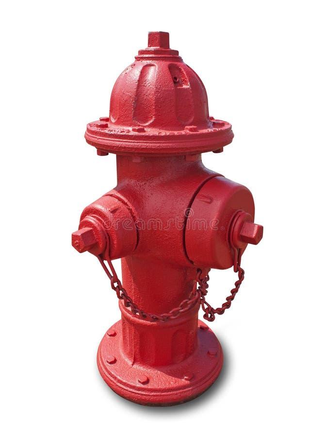Hydrant des roten Feuers, getrennt lizenzfreie stockbilder