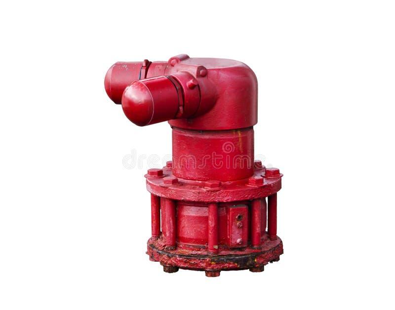 Hydrant für Feuerwehrmann, lokalisierter Hintergrund stockfoto