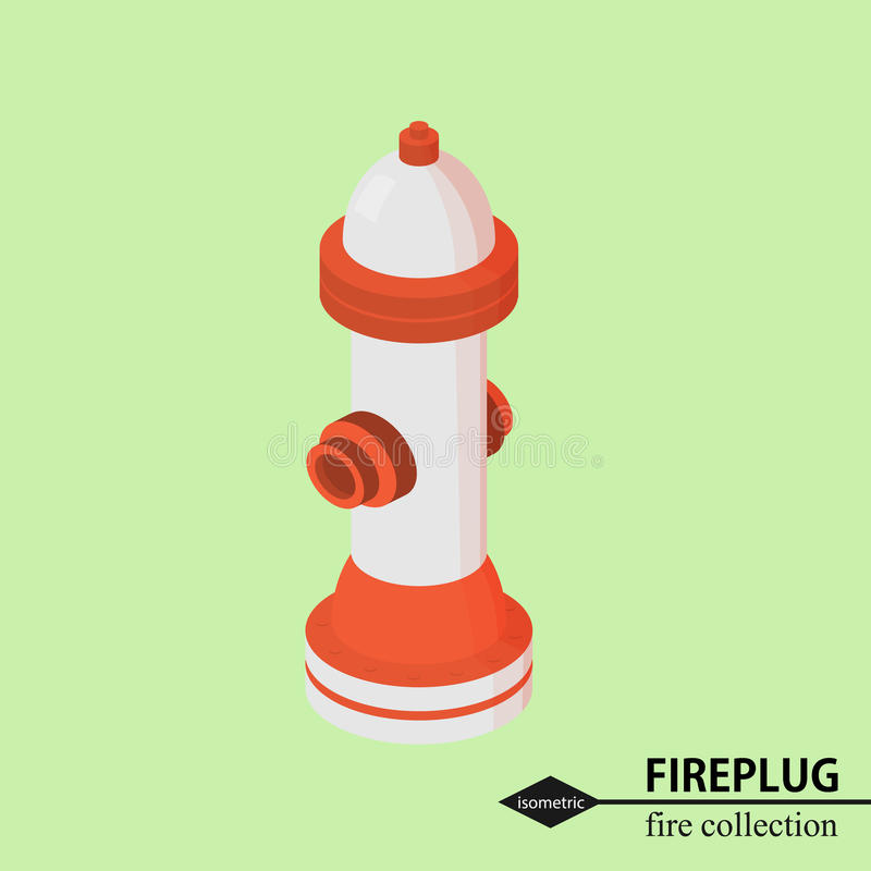 Hydrant for fire fighting. Isometric vector illustration royalty free illustration