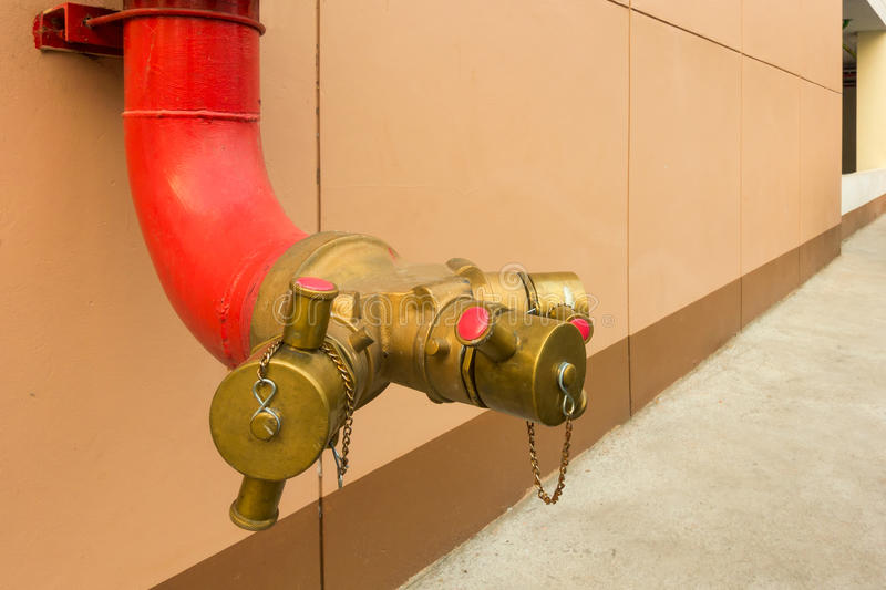 Hydrant for fire protection. Object tools royalty free stock image