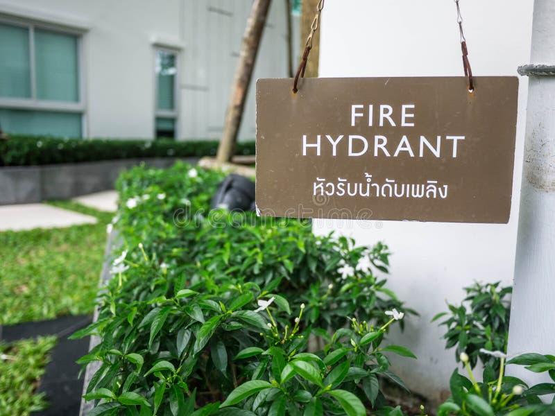 Hydrant im Garten stockbilder