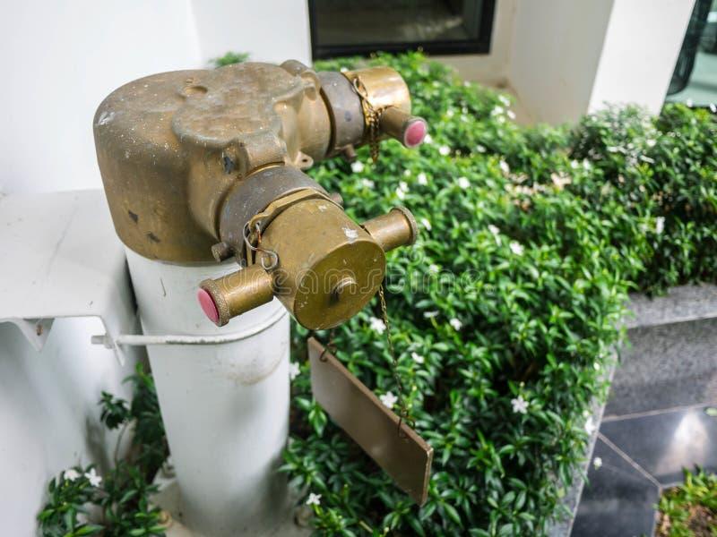 Hydrant im Garten lizenzfreies stockfoto