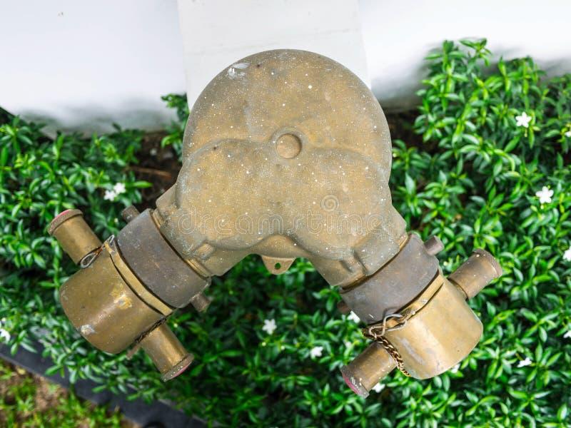 Hydrant im Garten lizenzfreies stockbild