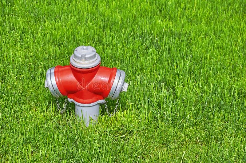 Hydrant im Gras lizenzfreies stockfoto