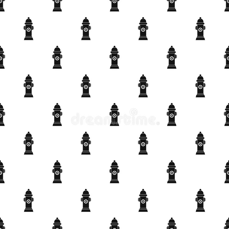 Hydrant pattern vector. Hydrant pattern seamless in simple style vector illustration royalty free illustration