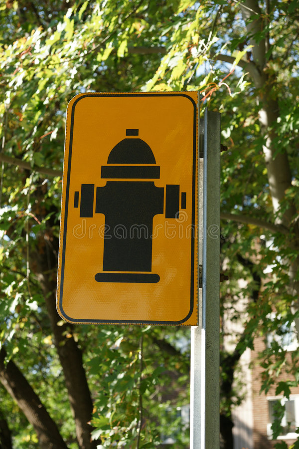 Hydrant Sign royalty free stock photography