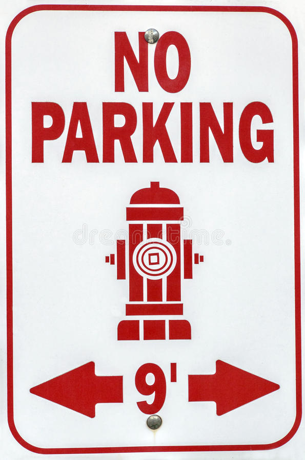 Hydrant-Zeichen stockbild