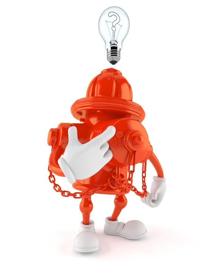 Hydranta charakter ma pomysł ilustracja wektor