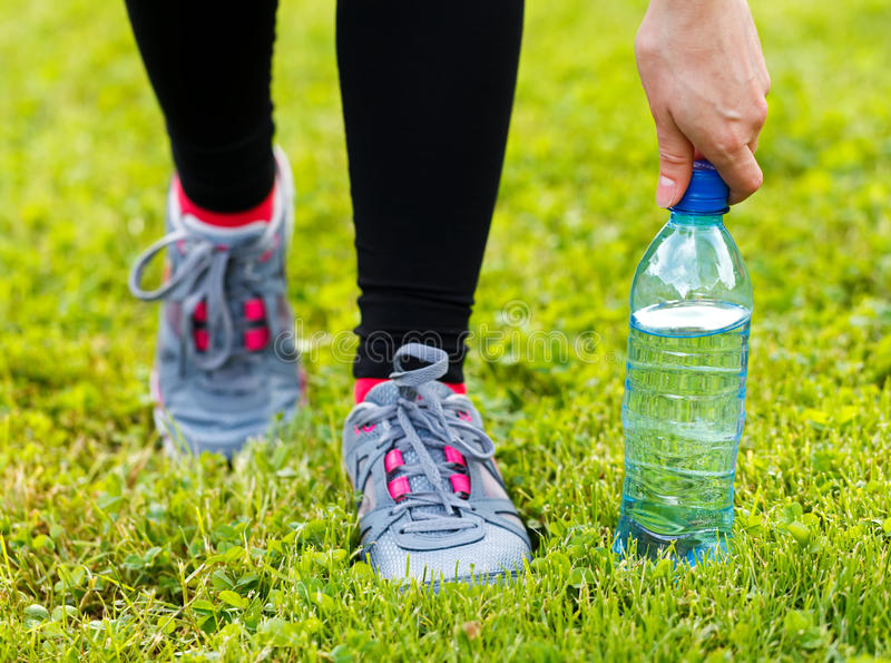 Hydration during workout. Do not forget about the hydration stock images