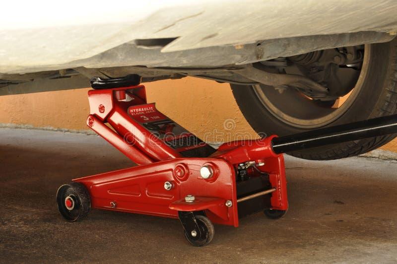 Hydraulic car jack stock photos