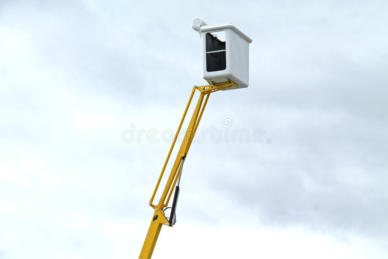 Hydraulic Cherry Picker. stock images