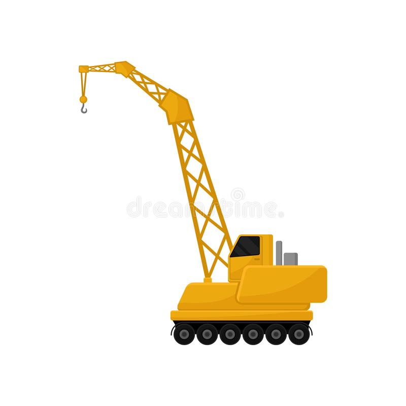 Hydraulic crawler crane stock vector  Illustration of mobile