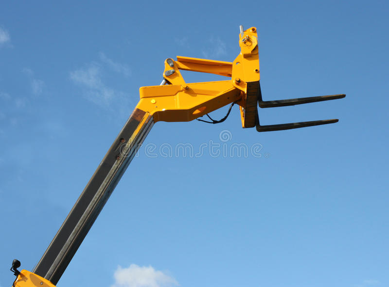 Download Hydraulic Lift. stock photo. Image of height, reach, yellow - 17153252
