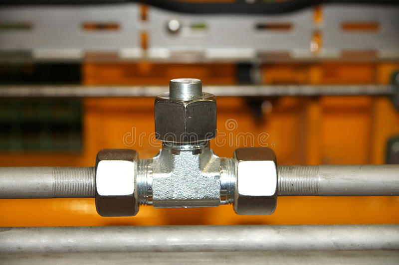 Hydraulic pipes royalty free stock images