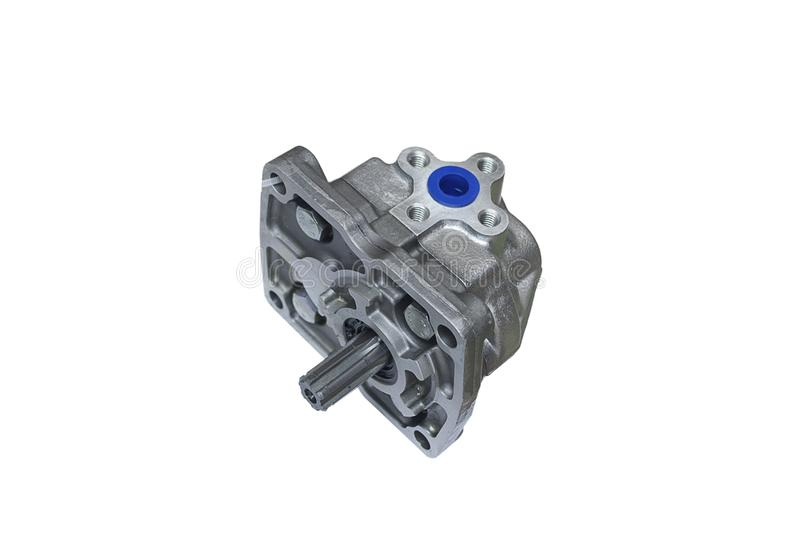 Hydraulic power steering pump on stock images
