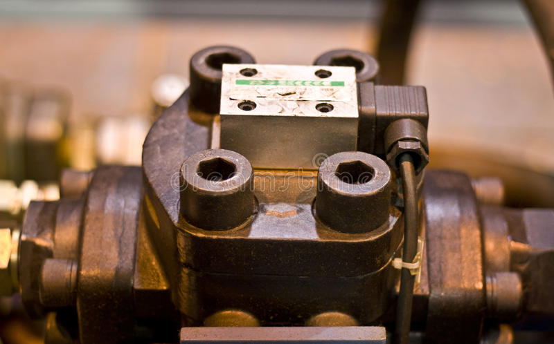 Hydraulic system component stock images