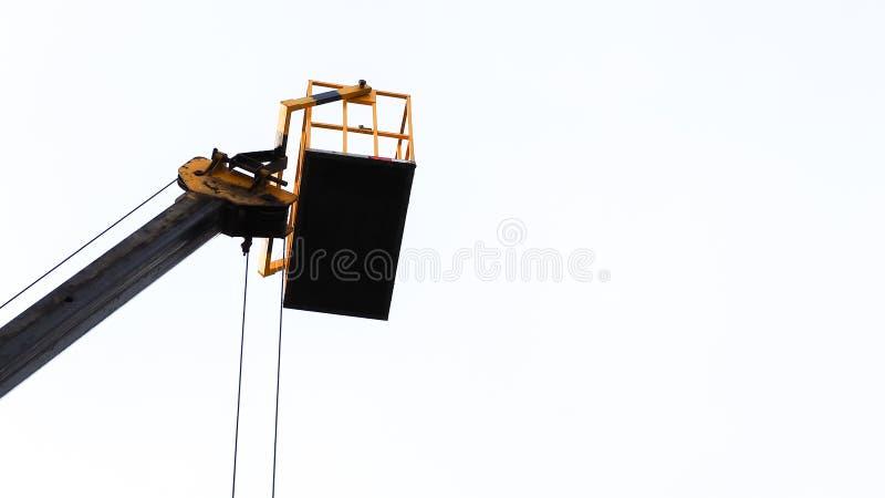 Hydrauliczna platformy ciężarówka, przemysł i zdjęcie royalty free