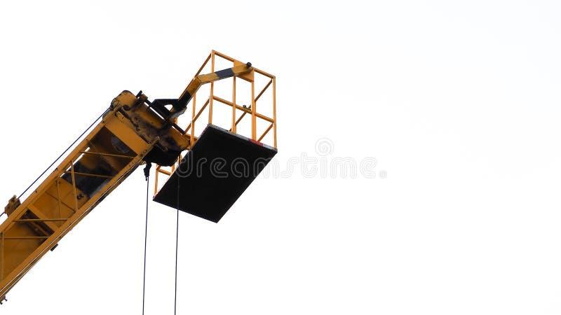 Hydrauliczna platformy ciężarówka, przemysł i fotografia royalty free