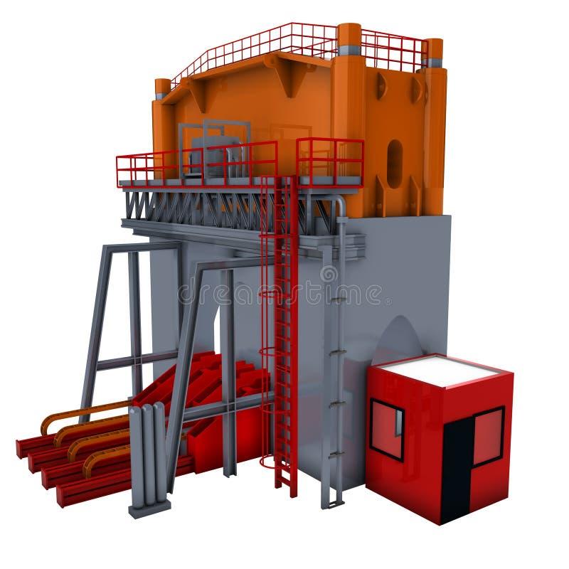hydrauliczna prasa ilustracji