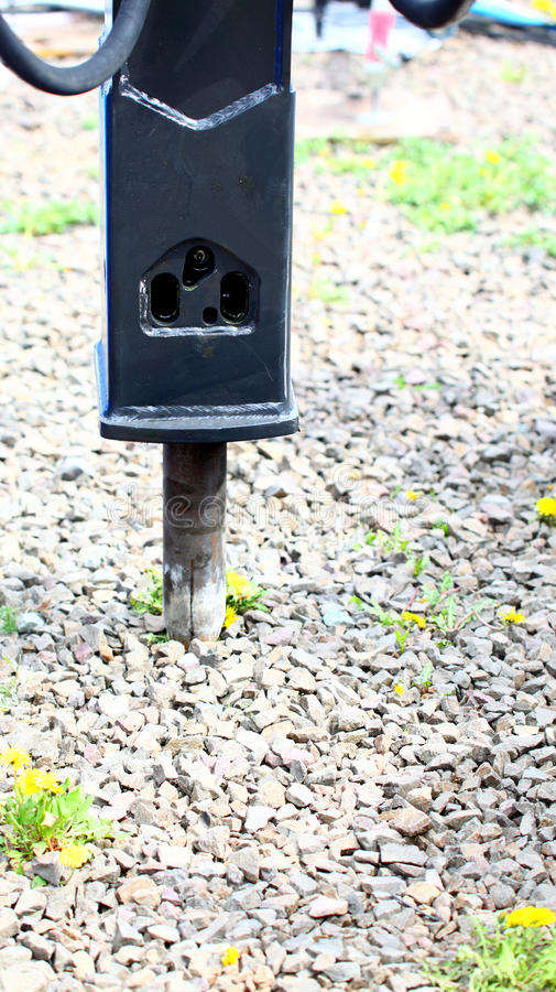 Hydrauliczna ręka jackhammer pneumatyczny świder obrazy stock