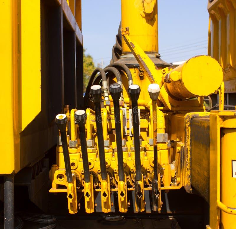 Hydraulik-Hebel lizenzfreies stockbild