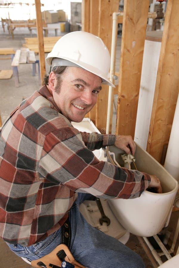 hydraulik napraw toalety zdjęcie royalty free