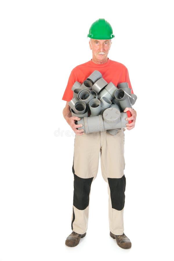 Hydraulik Z Dużo Drymby Zdjęcie Stock