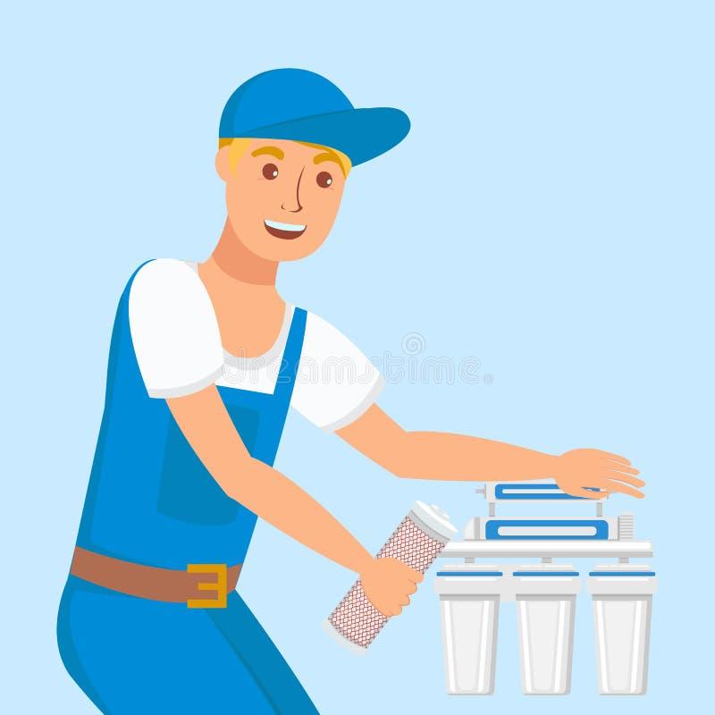 Hydraulika naprawiania domu filtra wektoru ilustracja ilustracja wektor