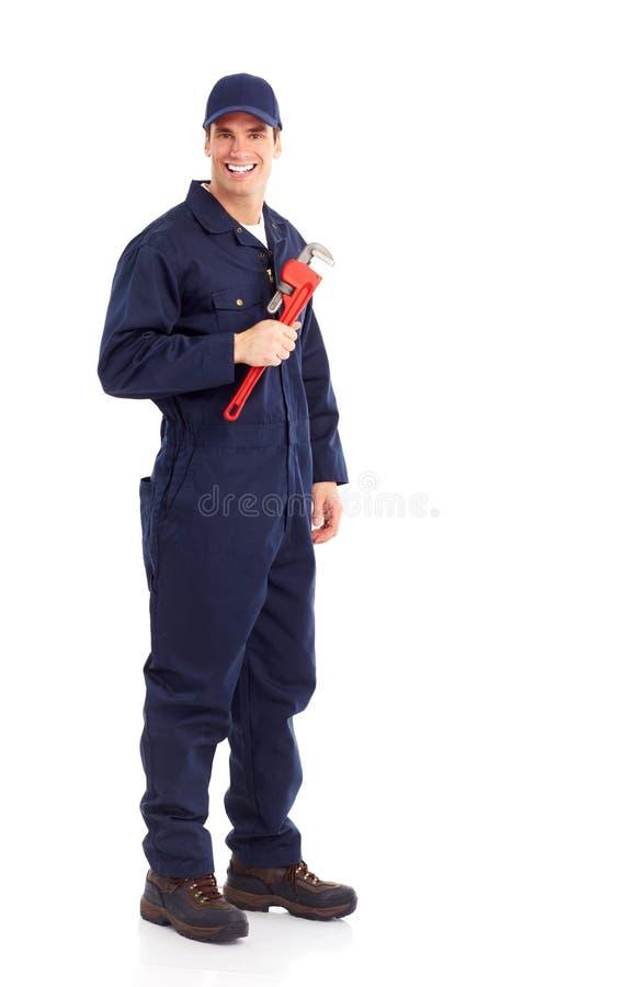 hydraulika pracownik obraz stock