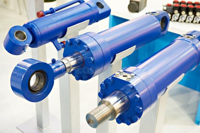Hydraulische cilinders royalty-vrije stock fotografie
