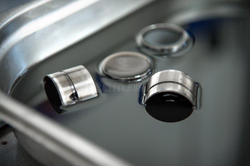 Hydraulische compensatoren voor dieselmotorkleppen royalty-vrije stock foto's