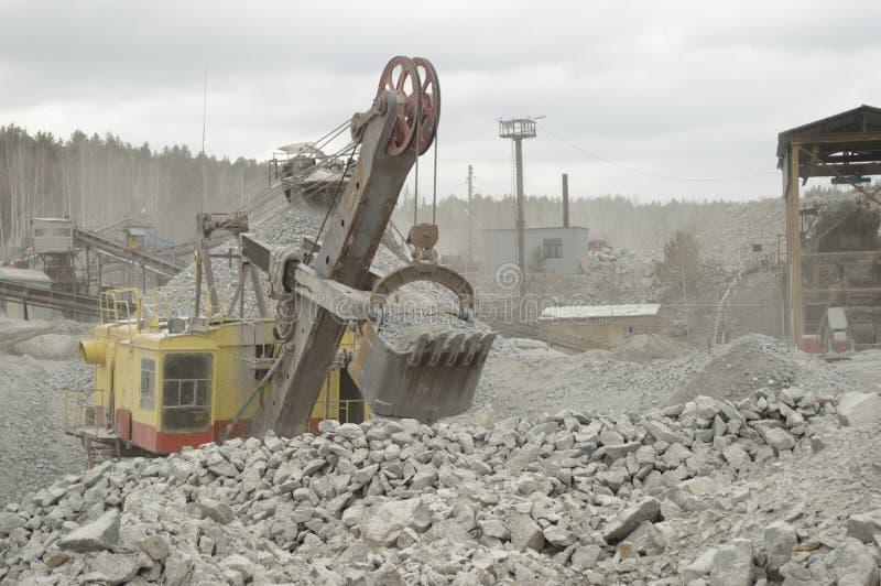 Hydraulische graver stock fotografie