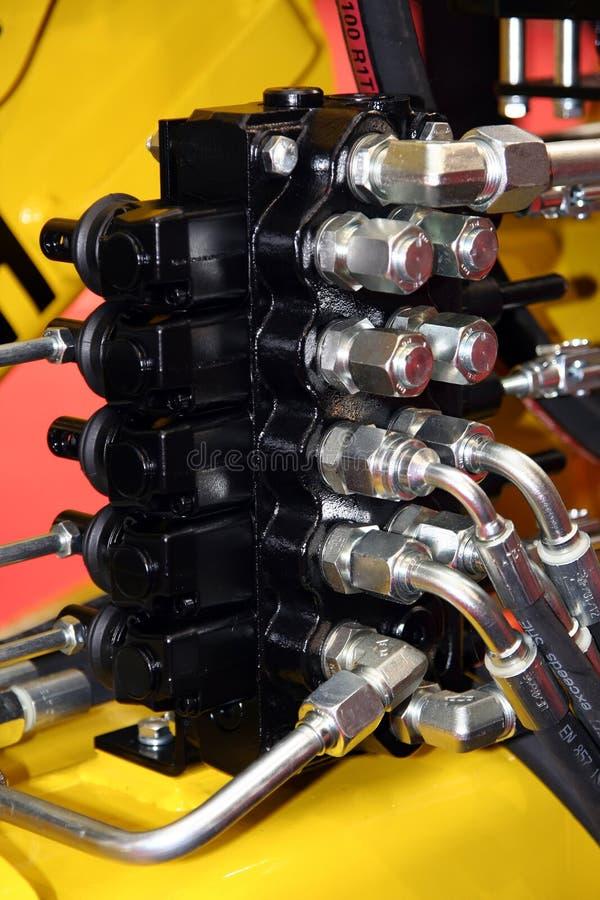 Hydraulische Maschine lizenzfreie stockbilder