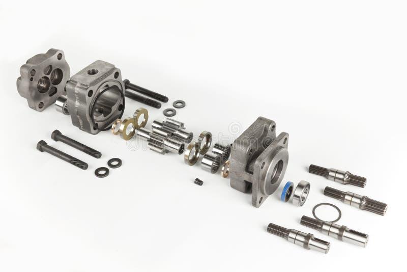 Hydraulische motor stock afbeeldingen