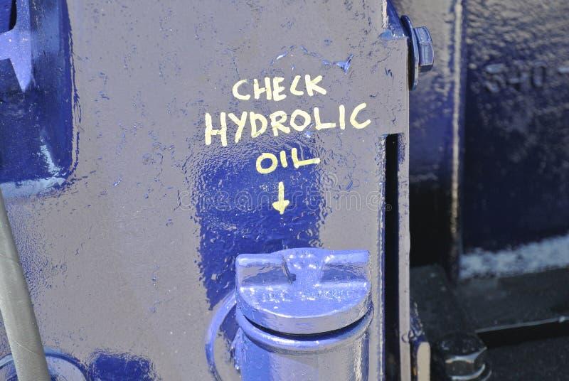 Hydraulische olie GLB sluiten-omhoog royalty-vrije stock fotografie