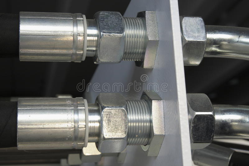 Hydraulische schroef-koppeling stock foto