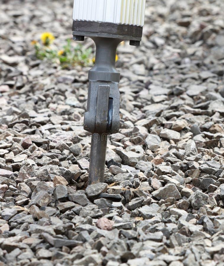 Hydraulischer Arm des Jackhammerpressluftbohrers lizenzfreies stockbild