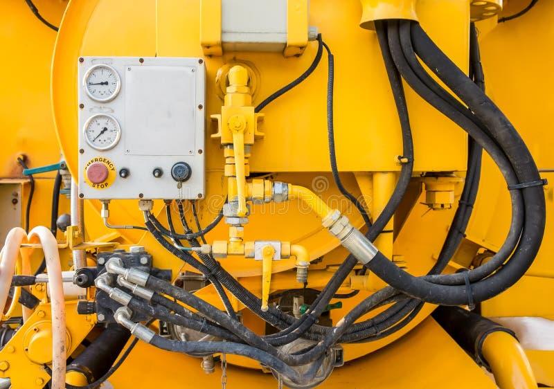 Hydraulischer Vakuum-LKW lizenzfreie stockfotografie