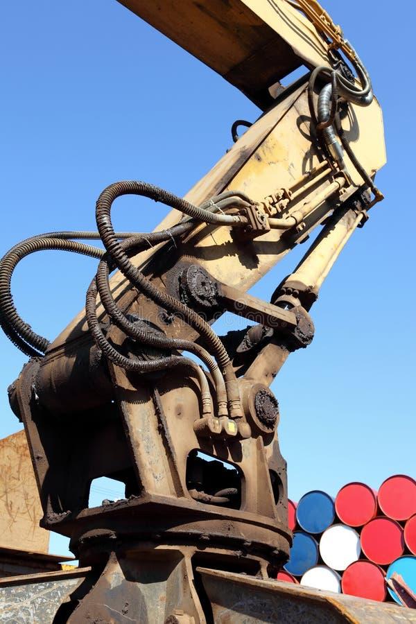 hydraulisk arm royaltyfria bilder