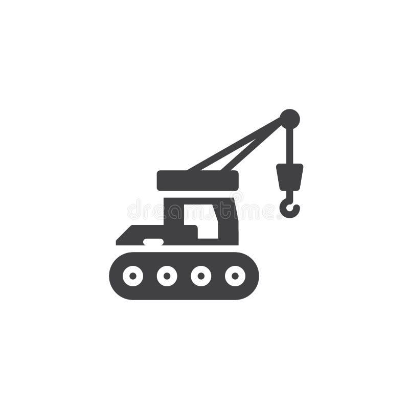 Hydraulisk symbol för vektor för crawlsimmarekran vektor illustrationer