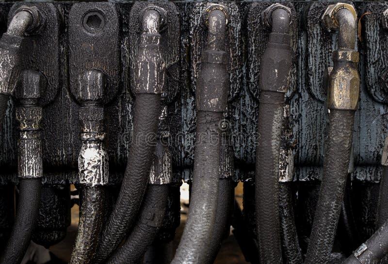 hydrauliska linjer för färg royaltyfri fotografi