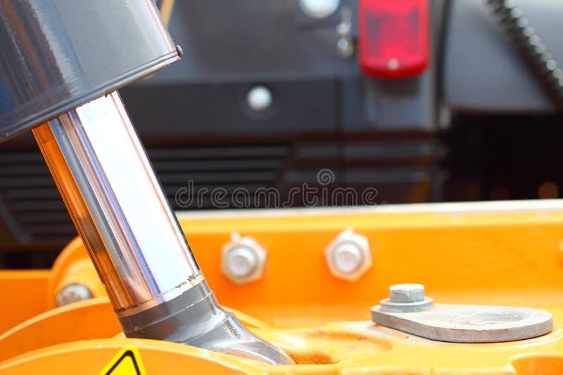 Hydrauliskt system av en industriell detalj för grävarepistong fotografering för bildbyråer