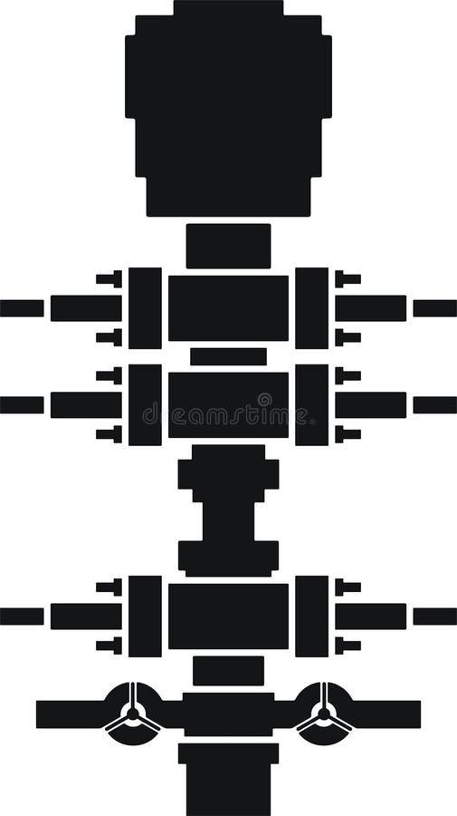 Hydril preventer,blowout preventer. Preventer equipment stock illustration