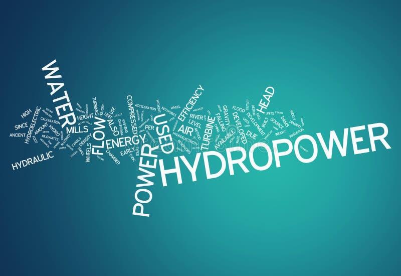 Hydroélectricité de nuage de Word illustration libre de droits