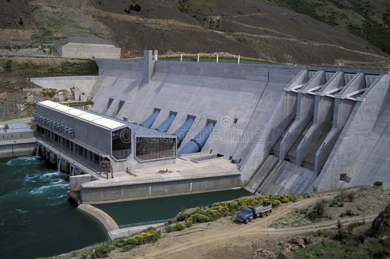 Download Hydro Dam, New Zealand. stock photo. Image of industry, energy - 27490